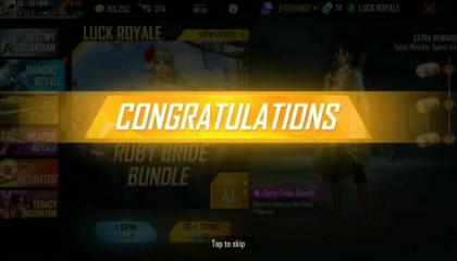 free fire luck ROYAL LUCK DAY