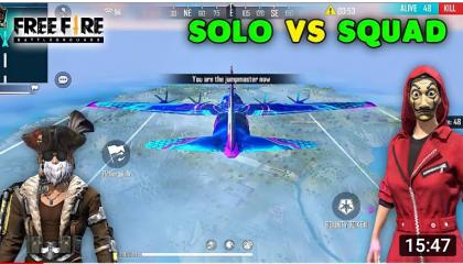 Free Fire Solo vs Squad Best Scar AWM and M1887 Gameplay  Garena Free Fire