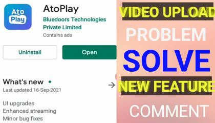 AtoPlay UI Upgrade New comment feature