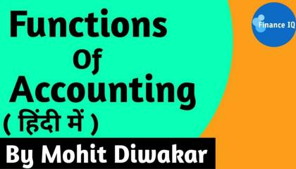 Function Of Accounting in Hindi