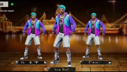 Free Fire Emote dance video/ Gamerz lobby