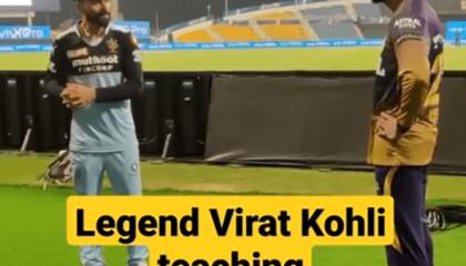 virat kohli teaching batting to venkatesh