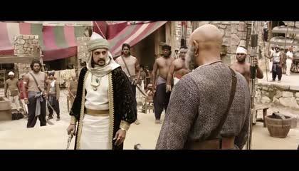 bahubali katappa impresses khan trader