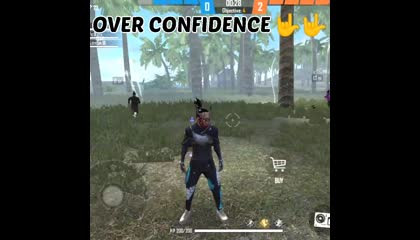 over confidence free fire player 🔥🔥