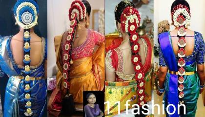South Indian bride Pula jada by 11 fashion