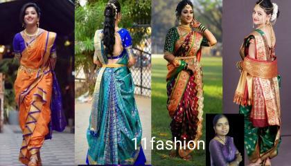 beautiful halfsaree design by 11 fashion