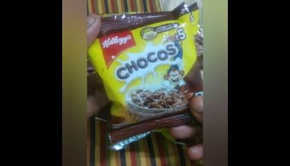 Kellogg's Chocos opening 😋😋