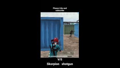 Skorpion vs 2 shotguns  2 finger claw pubgmobile