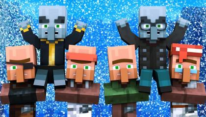 Villager vs Pillager Life Winter War 1 - Minecraft Animation