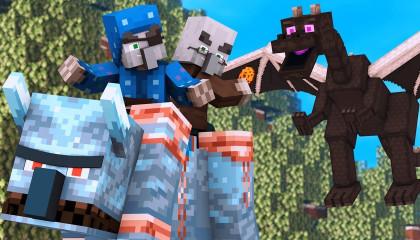 Villager vs Pillager Life Winter War 2 -  Minecraft Animation