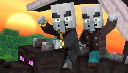 Villager vs Pillager Life Winter War 3 -  Minecraft Animation
