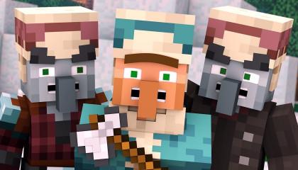 Villager vs Pillager Life Winter War 4 -  Minecraft Animation