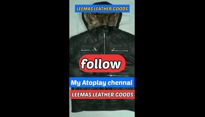 hooded fur leather jacket biker jacket men's fashion leather jacket