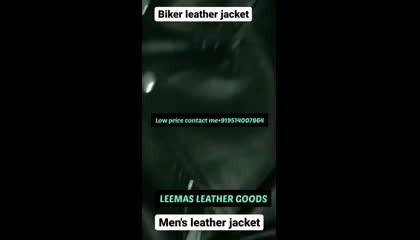 biker jacket men's jacket leather jacket genuine leather black 🖤 colour jacket