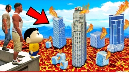 Shinchan and Franklin treat The theimpossable lava ChallEnge gta5