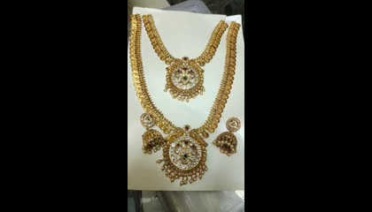 latest Matt finish jewelry../latest bridal jewelry