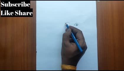 Real Hand Drawing Baal Ganesh Cute